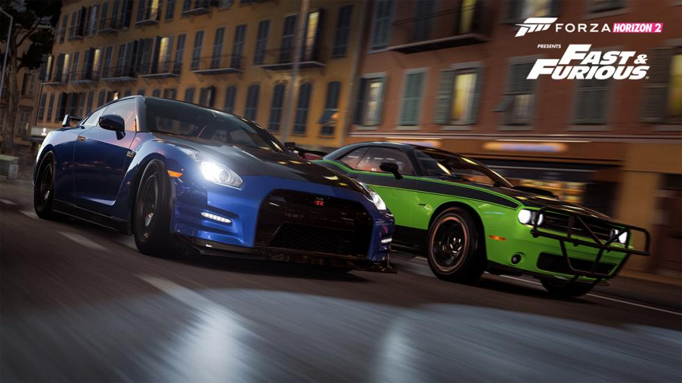 Forza Horizon 2 Furious 7 Car Pack -  Nissan GT-R contra Dodge Challenger