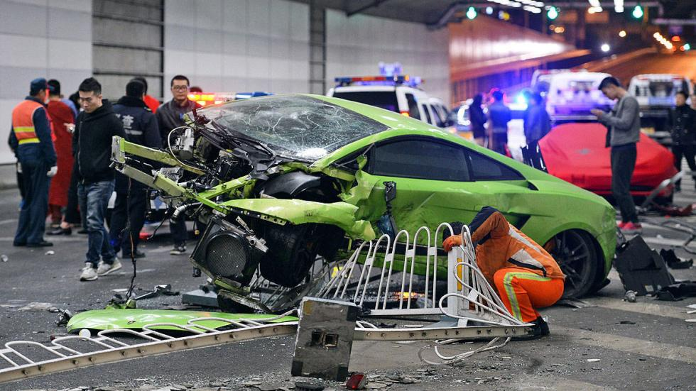accidente lamborghini ferrari china pekin fast
