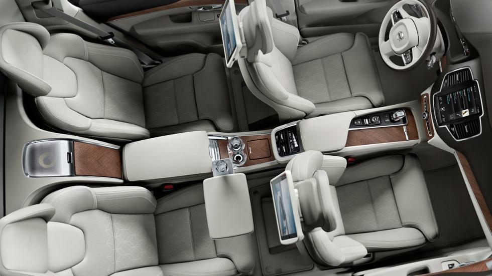 Volvo XC90 Excellence interior aérea