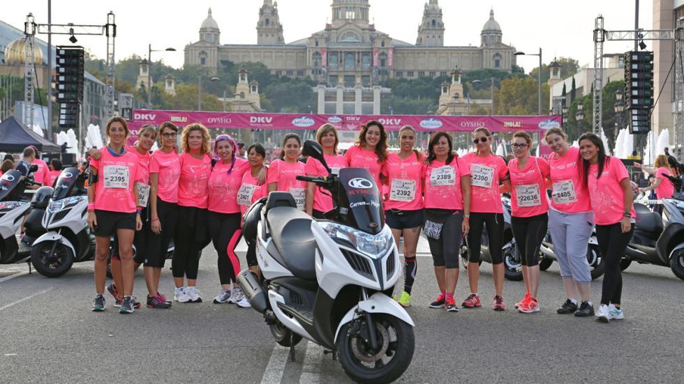 Kymco con la Carrera de la Mujer 2015