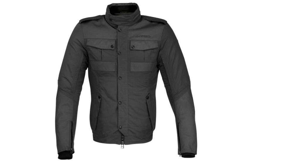 Tonos verde y oscuro y gris disponibles en la chaqueta de moto Acerbis Wats