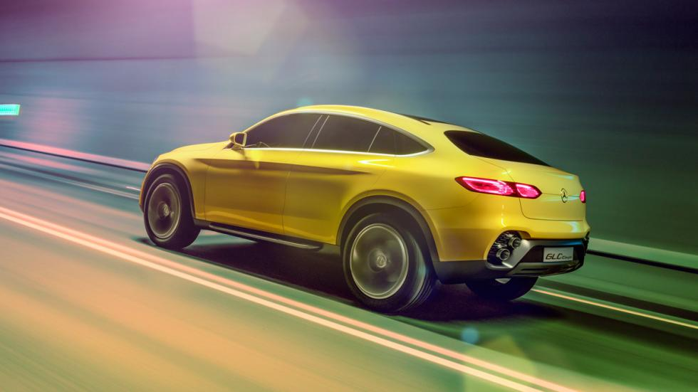 Mercedes GLC coupe concept dinamica lateral