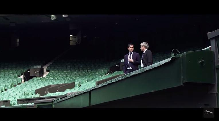 José Mourinho y Tim Hemnan en Wimbledon.