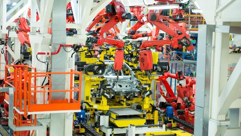 Carrocería Fiat 500X en la planta de Melfi