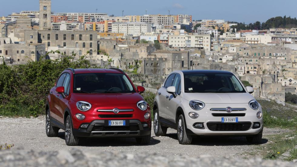 Fiat 500X blanco y rojo