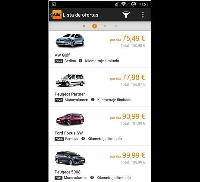 App Sixt Rent a Car