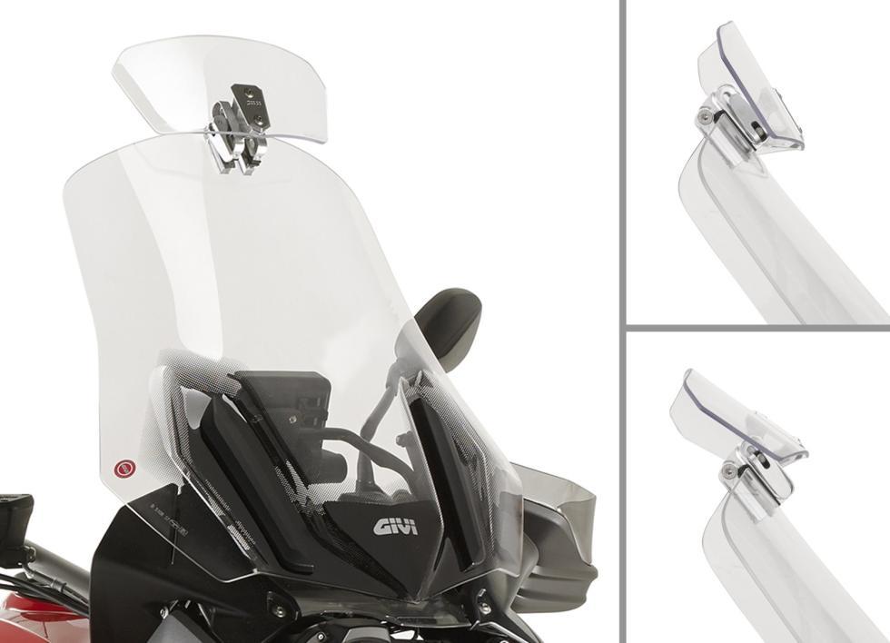 Nuevo spoiler GIVI para toda clase de pantallas de moto