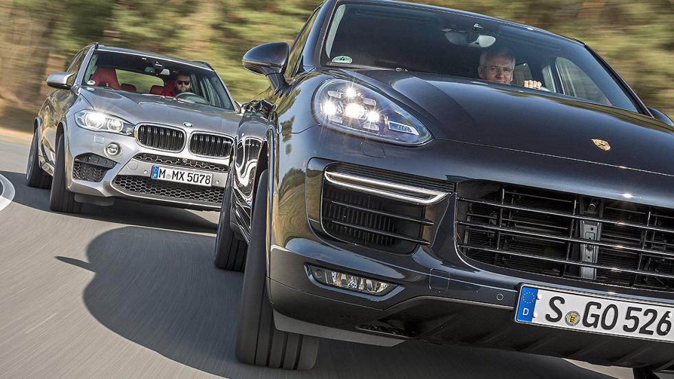BMW X5 M vs. Porsche Cayenne Turbo S morros