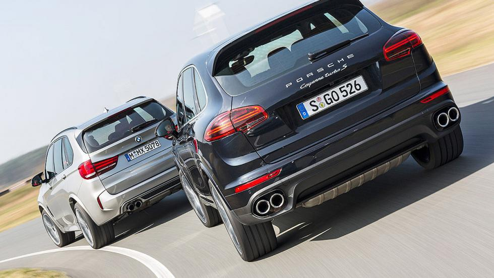 BMW X5 M vs. Porsche Cayenne Turbo S zagas