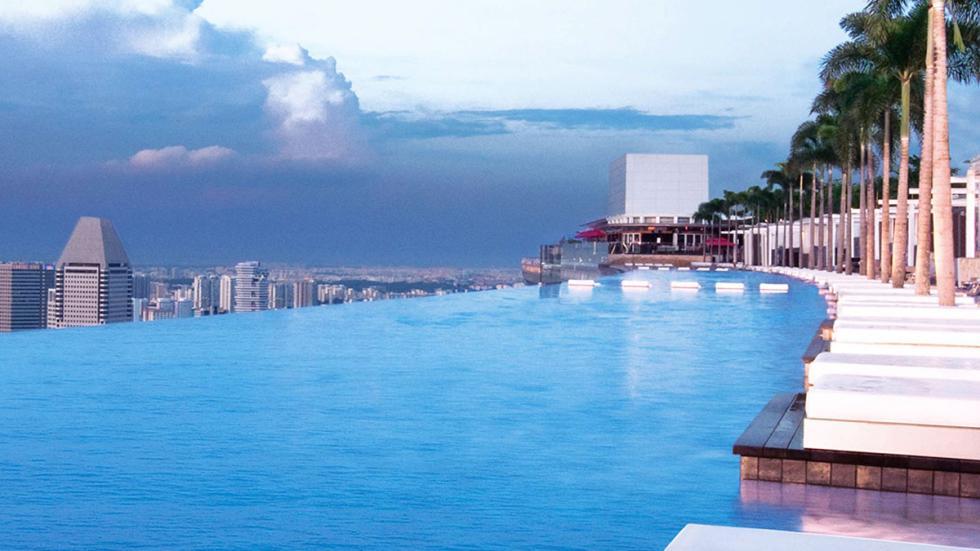 piscina infinita Hotel Marina Bay Sands