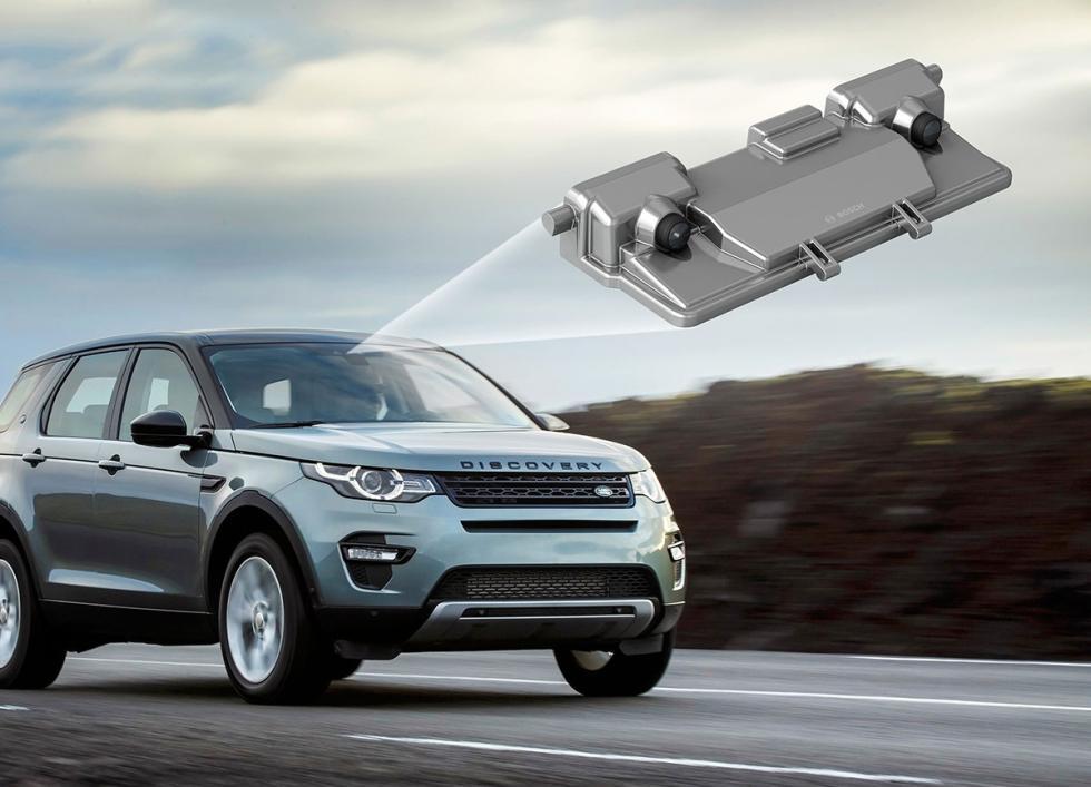 Land Rover Discovery con la cámara de vídeo estéreo de Bosch