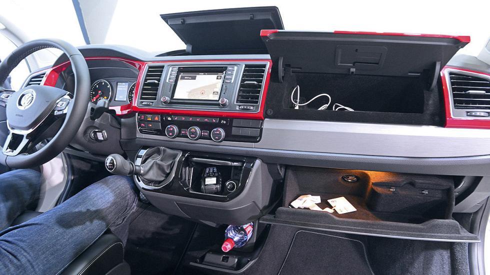 Volkswagen T6 luces interior portaobjetos