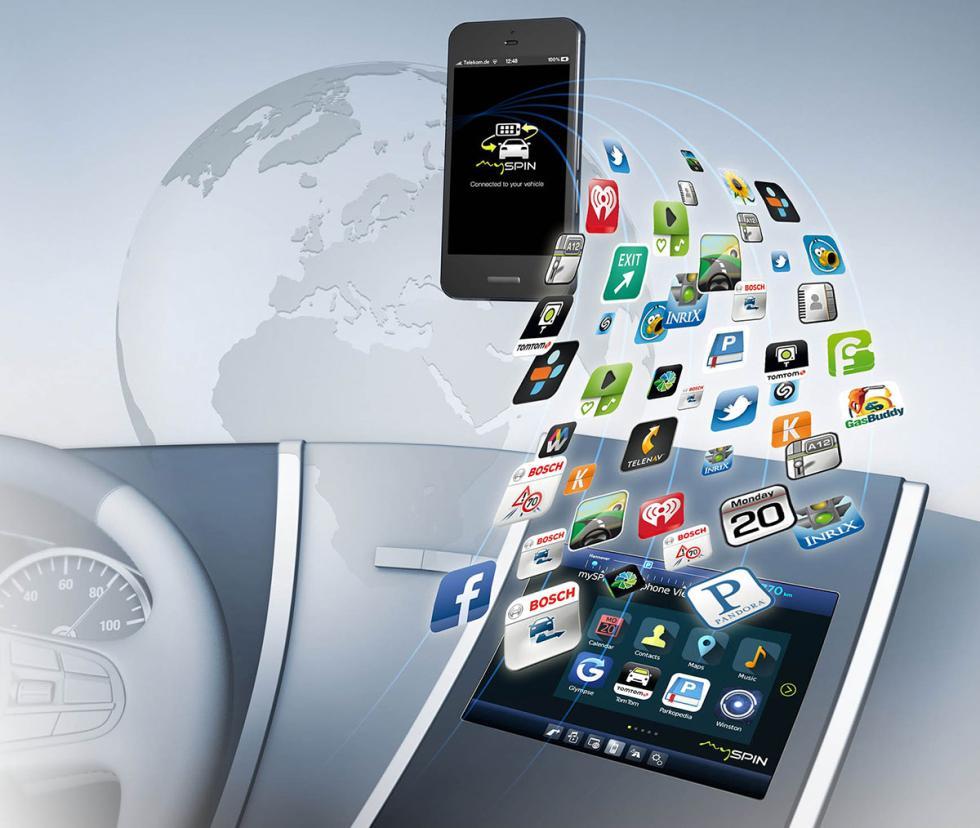 Integración del smartphone en el coche según Bosch