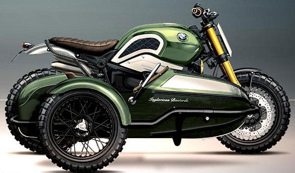Sidecar incorporado en el caso de la BMW L'échappée Belle