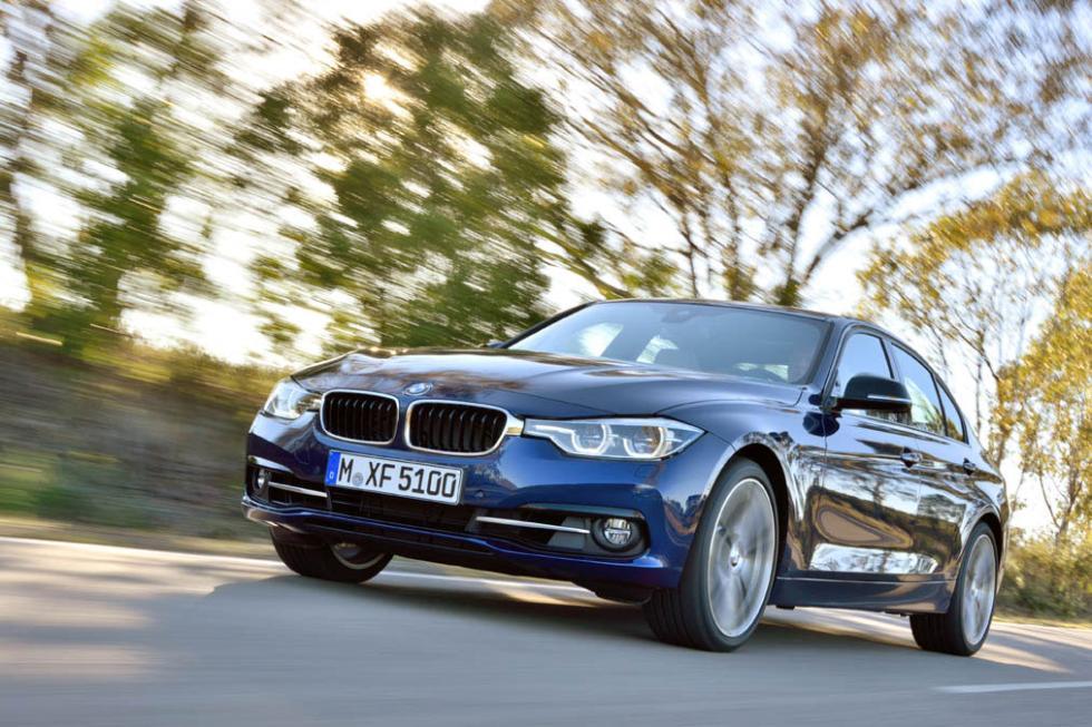 BMW Serie 3 2016 tres cuartos delanteros