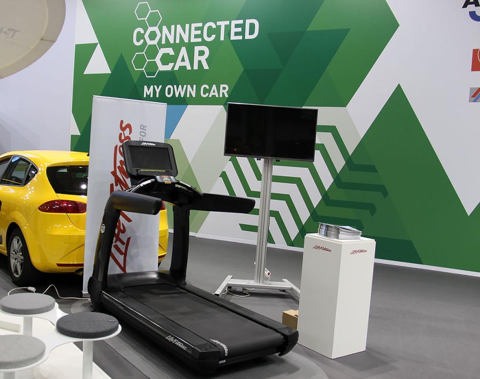Cinta de correr en el Salón del Automóvil de Barcelona 2015