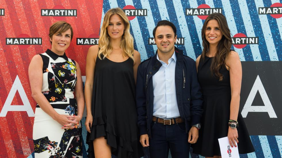 Claire Williams, Bar Refaeli, Felipe Massa y Lucia Villalón