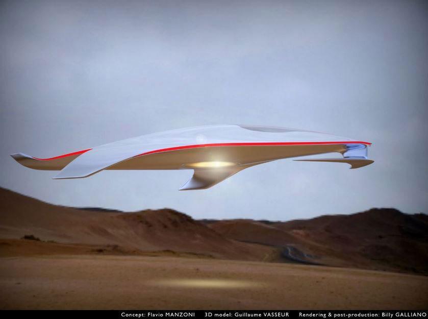 La nave espacial del futuro según Ferrari