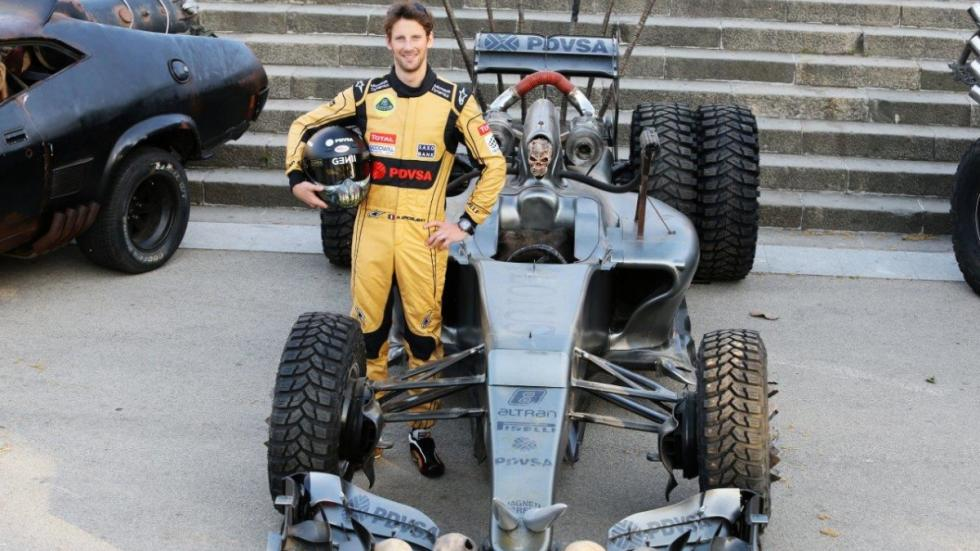 Romain Grosjean Lotus F1 Mad Max