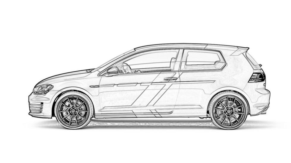 Volkswagen Golf GTI Wörthersee 2015 dibujo