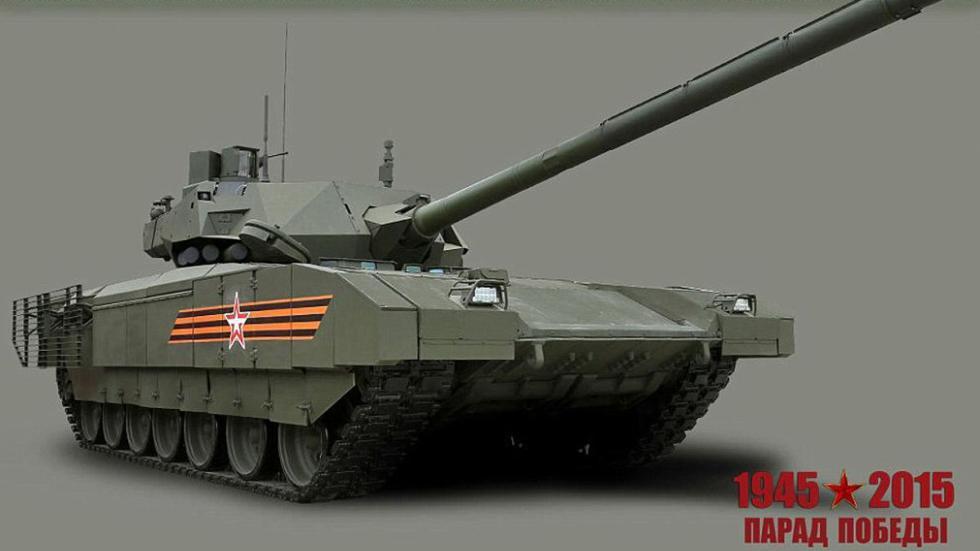 T 14: el supertanque de Putin detalle