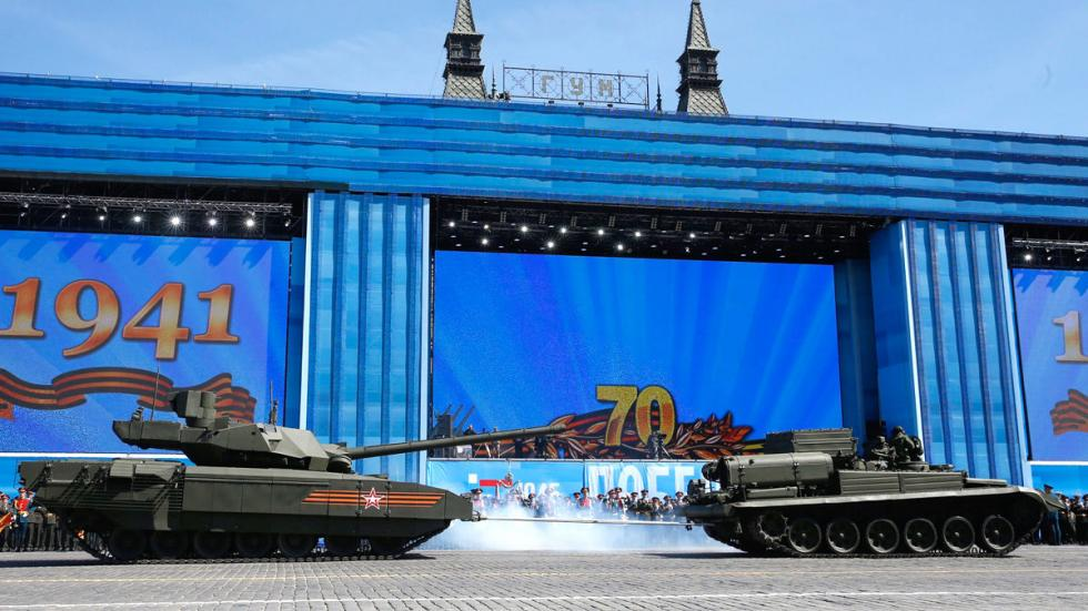 T 14: el supertanque de Putin desfile general