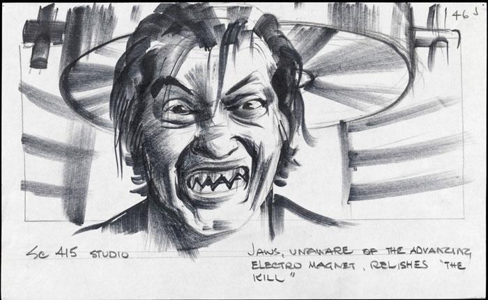 Boceto de Jaw en 007