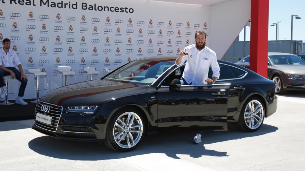 Entrega coches Audi jugadores Real Madrid baloncesto