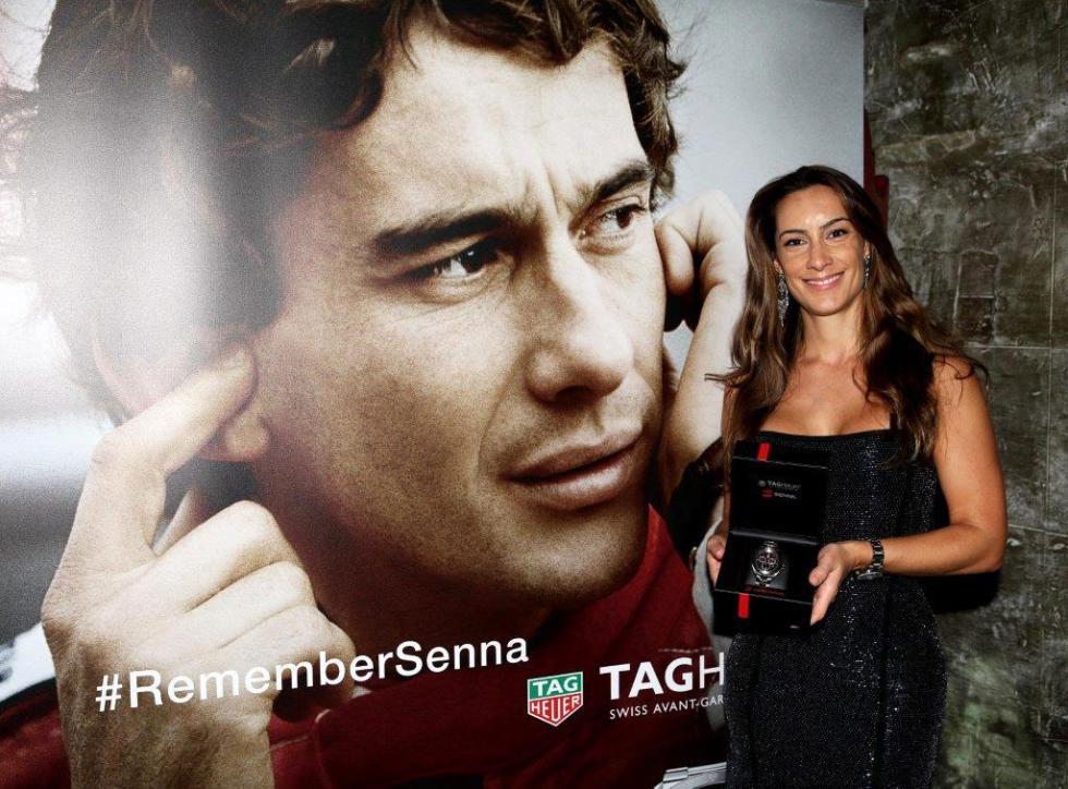 Bianca Senna, sobrina de Ayrton Senna, con el nuevo reloj de Tag Heuer