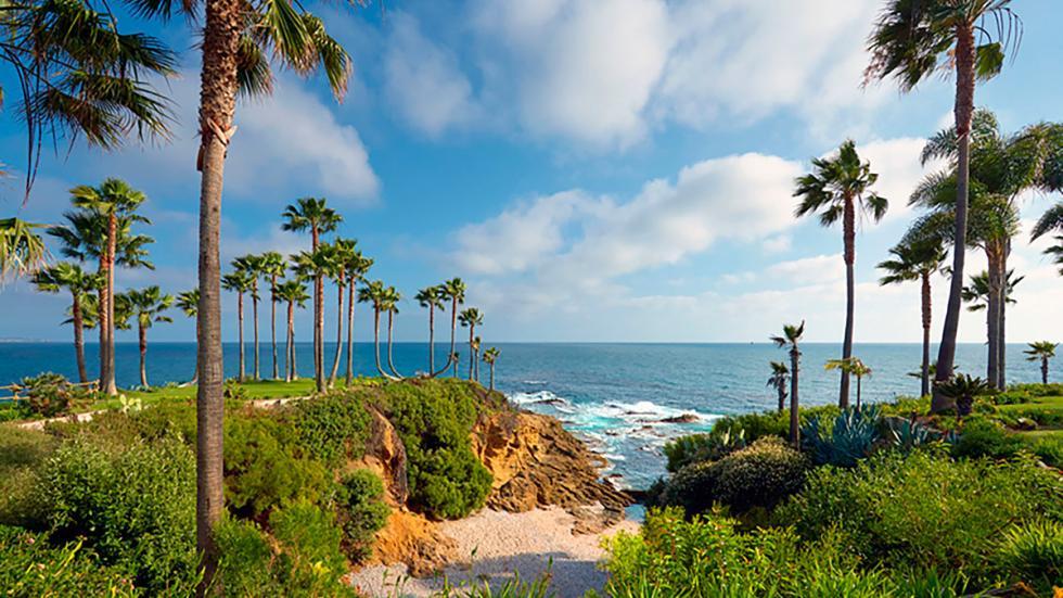 Vista a la costa de California desde Twin Points