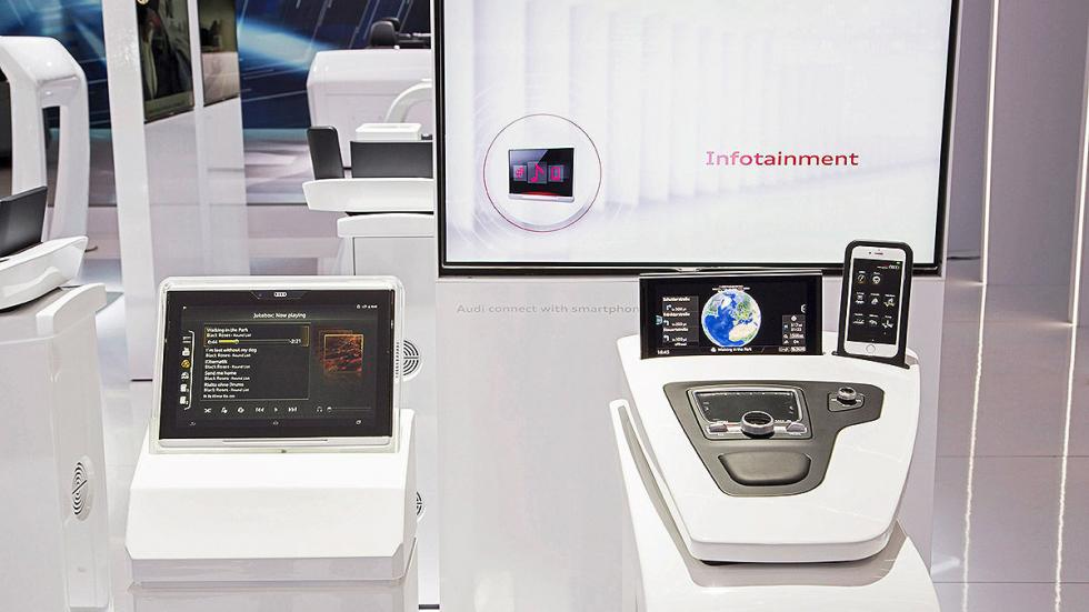 CES Asia 2015 Audi dentro chips estand