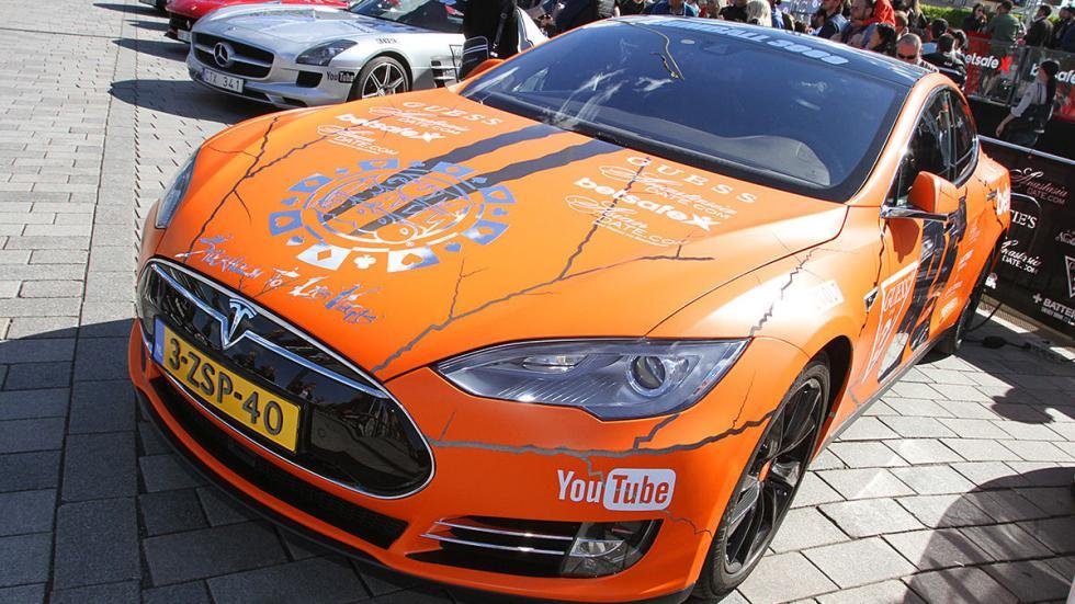Los coches más espectaculares de la Gumball 300 de este año mapa Tesla