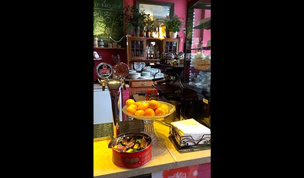 Interior de Vinyl Café