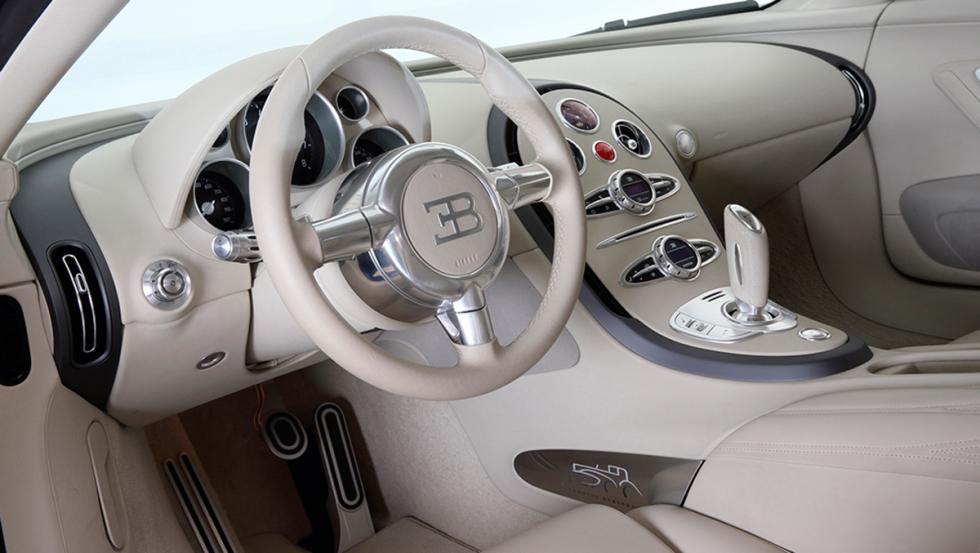 Bugatti Veyron Bleu Centenaire interior