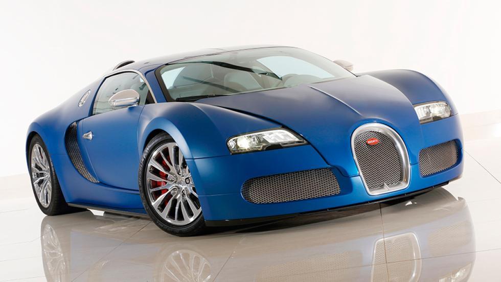 Bugatti Veyron Bleu Centenaire frontal