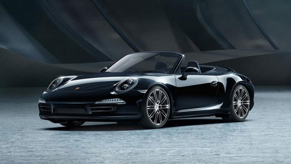 Porsche Black Edition tres cuartos delanteros