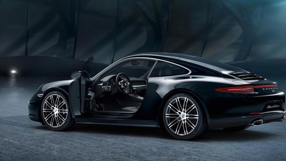 Porsche Black Edition tres cuartos traseros