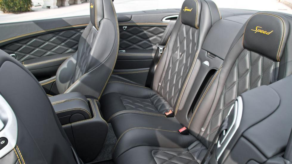 Bentley Continental GTC Speed 2015 plazas traseras