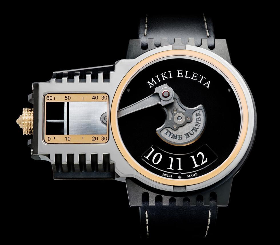 Reloj Timeburner by Miki Eleta en plata