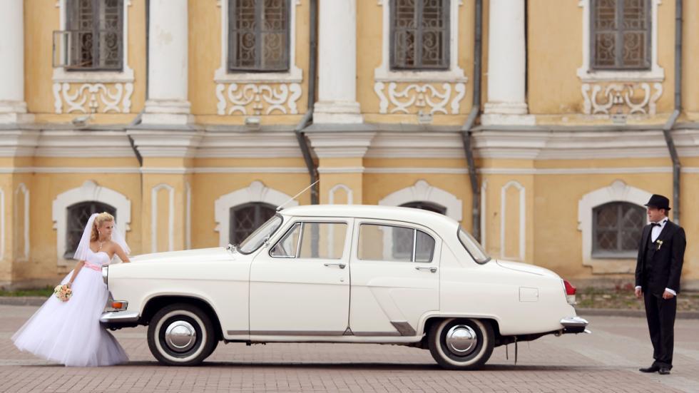 coche para bodas clasico blanco