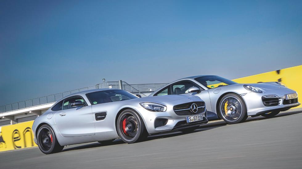 Mercedes AMG GT y Porsche 911