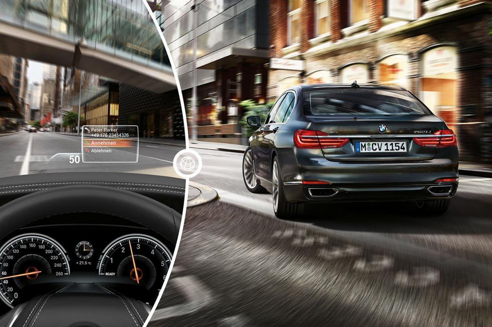 El Head-Up Display del BMW Serie 7
