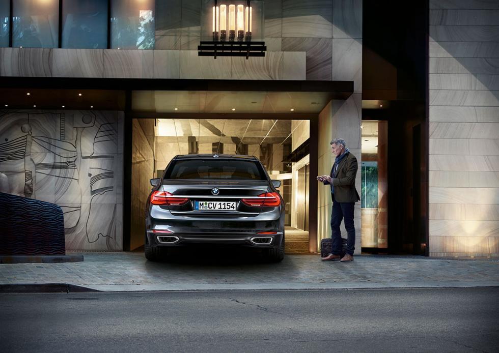 Aparcamiento semiautomático en el BMW Serie 7