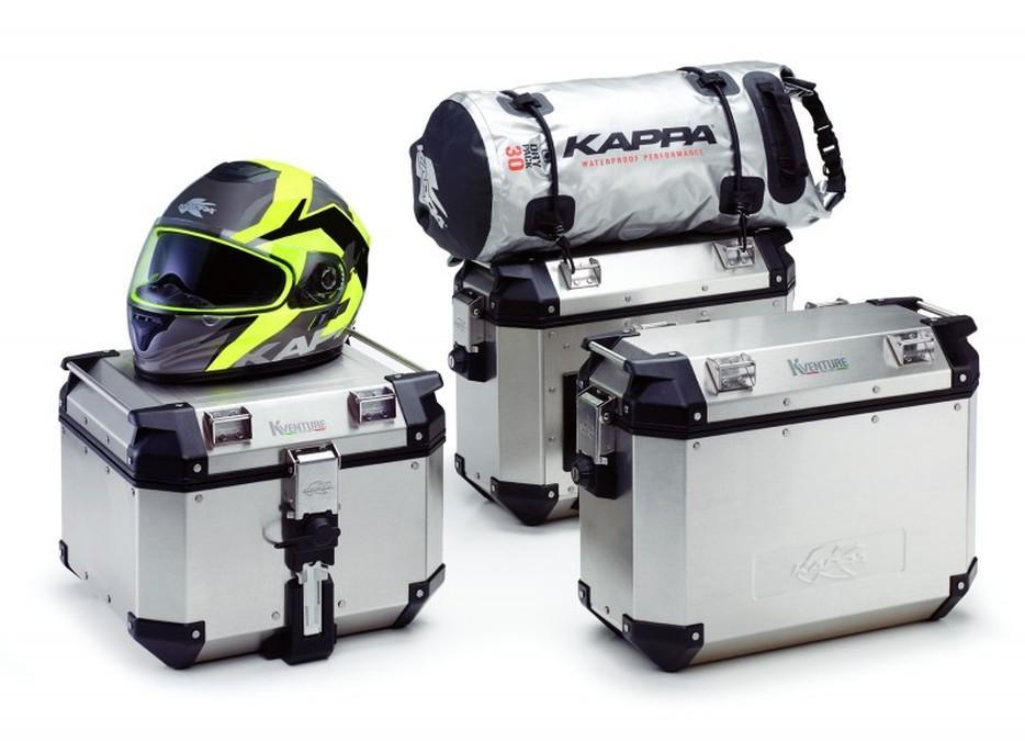 Maletas moto Kappa aluminio  con bolsa y casco