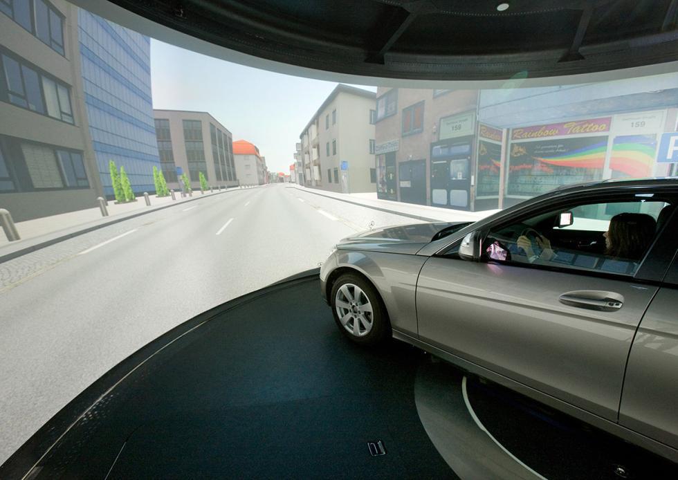 Simulador de conducción de Mercedes-Benz