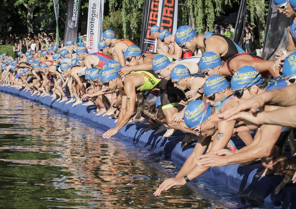 Skoda Triathlon Series 2015, natación