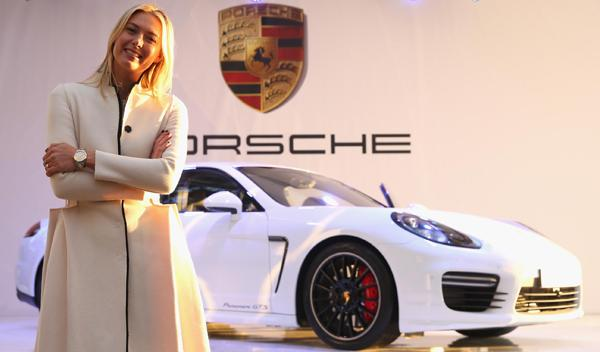 Maria Sharapova Porsche Panamera GTS 'by María Sharapova'