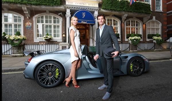 Maria Sharapova con Webber