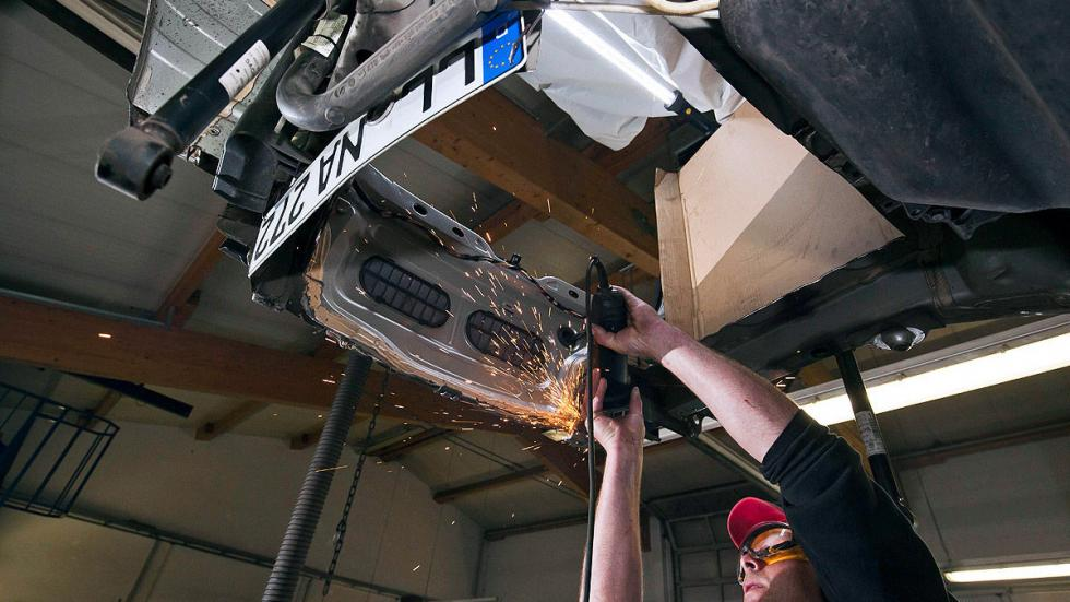 Ellenator zaga ruedas desde abajo proceso