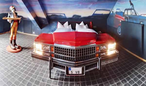 habitación autocine del Hotel V8
